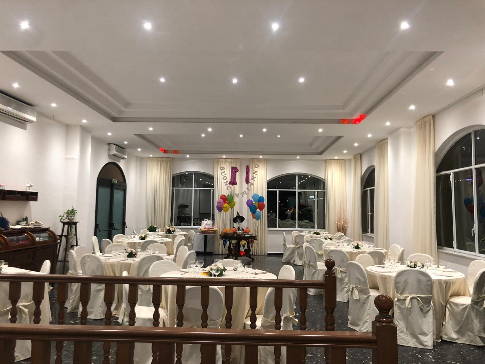 Sala ricevimenti dell'Hotel Vietri Coast