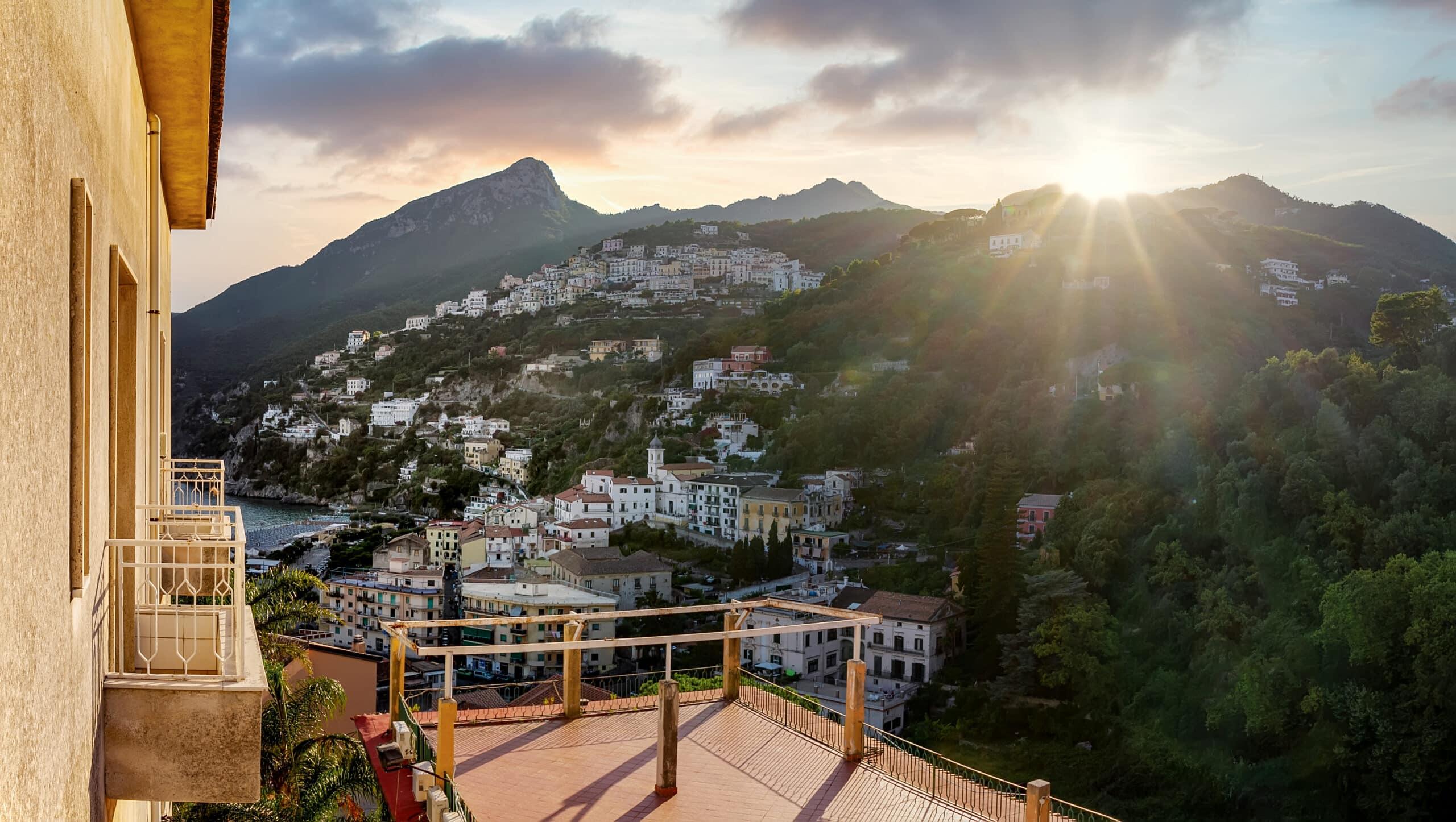 veduta dalle camere panoramiche dell'Hotel Vietri Coast